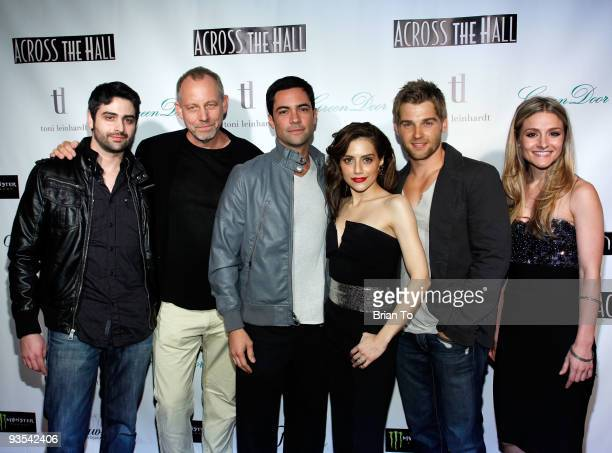 Director Alex Merkin cast Brad Greenquist Danny Pino Brittany Murphy Mike Vogel and Natalie Smyka attend Across The Hall Los Angeles Premiere at...