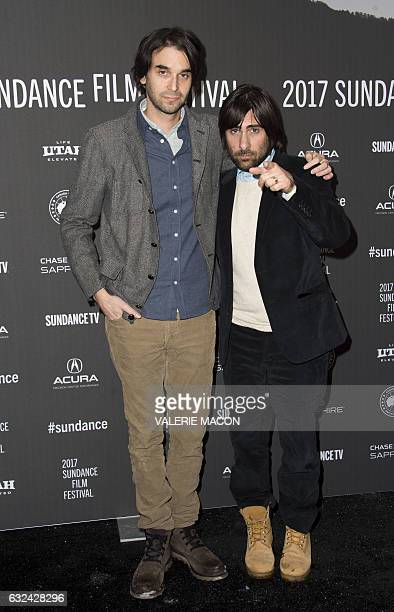 Director Alex Ross Perry and actor Jason Schwartzman attend 'Golden Exits' Premiere at Library Center Theatre during the 2017 Sundance Film Festival...
