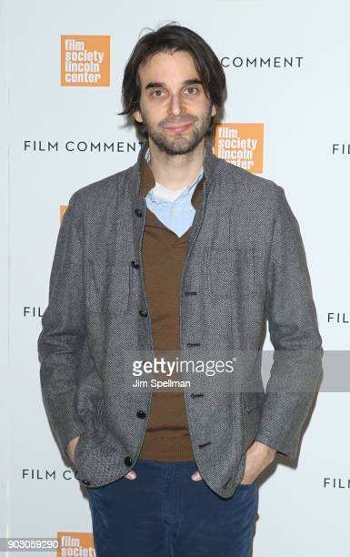 Director Alex Ross Perry attends the 2018 Film Society of Lincoln Center and Film Comment luncheon at Lincoln Ristorante on January 9 2018 in New...