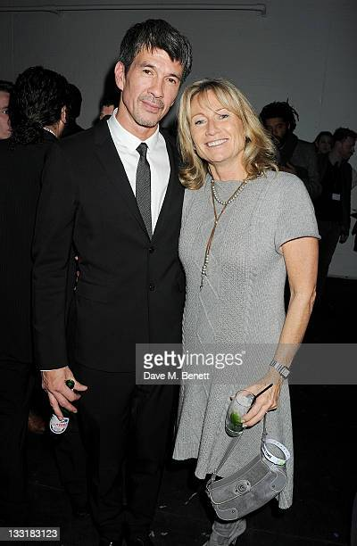 Director Alex Turnbull and Lady Alison Myners attend an after party following the UK Film Premiere of 'Beyond Time William Turnbull' at The Institute...