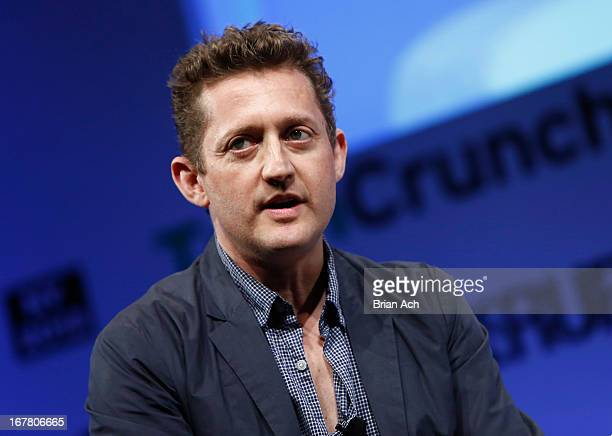Director Alex Winter speaks onstage at the TechCrunch Disrupt NY 2013 at The Manhattan Center on April 30 2013 in New York City