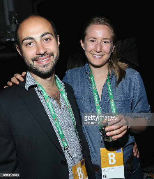 Director Alexander Berman and Sarah Hooff attend the Narrative Press Meet And Greet during the 2014 Tribeca Film Festival at the Tribeca Film...