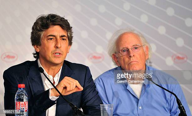Director Alexander Payne and actor Bruce Dern attends the 'Nebraska' press conference during The 66th Annual Cannes Film Festival on May 23 2013 in...