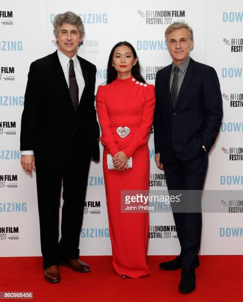 Director Alexander Payne and actors Hong Chau and Christoph Waltz attend the BFI Patron's Gala and UK Premiere of 'Downsizing' during the 61st BFI...