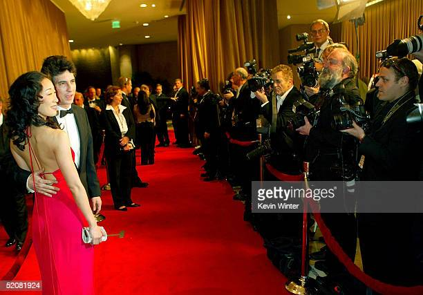 Director Alexander Payne and actress/wife Sandra Oh arrive at the 57th Annual DGA Awards Dinner at the Beverly Hilton Hotel on January 29 2005 in...