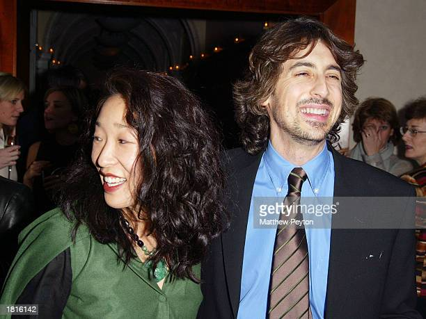 Director Alexander Payne and wife actress Sandra Oh attend the afterparty for the MOMA Celebration of the Films of Alexander Payne at The W Hotel...