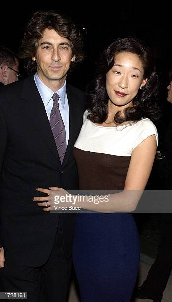 Director Alexander Payne and wife Sandra Oh attend the Los Angeles Film Critics Association's 28th Annual Achievement Awards on January 15 2003 in...