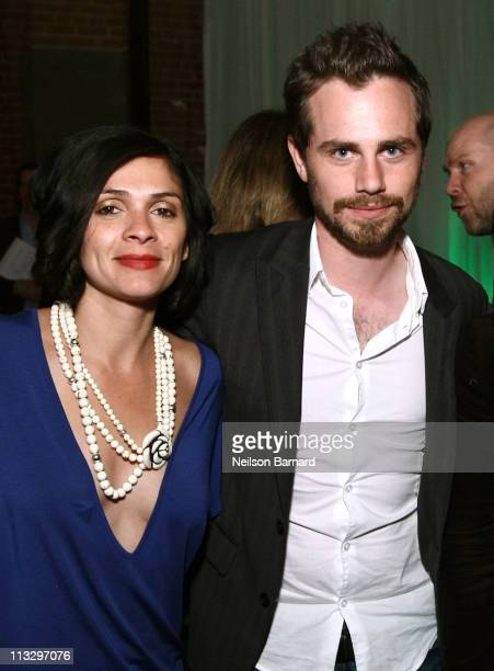 Director Alexandra Barreto and actor Rider Strong attend the Tribeca Film Festival wrap party hosted by Heineken at EYEBEAM on April 30 2011 in New...
