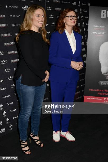 Director Alexandra Dean and Susan Sarandon attend Bombshell The Hedy Lamarr Story special screening at BFI Southbank on March 8 2018 in London United...