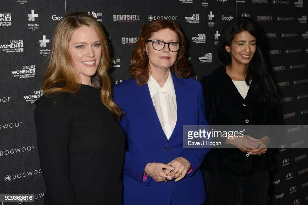 Director Alexandra Dean Susan Sarandon and Konnie Huq attend Bombshell The Hedy Lamarr Story special screening at BFI Southbank on March 8 2018 in...