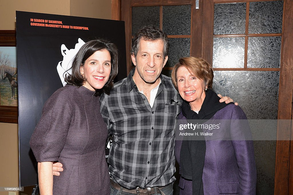 Director Alexandra Pelosi, fashion designer Kenneth Cole and Minority Leader of the United States House of Representatives Nancy Pelosi attend the 'Fall To Grace' and 'The Battle Of AMFAR' Brunch hosted by HBO on January 18, 2013 in Park City, Utah.