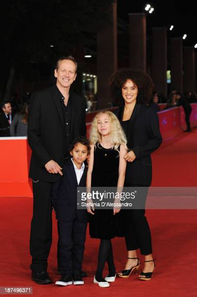 Director Alexandra Rockwell with wife Karyn Parsons Rockwell and their children Lana and Nico attend 'Las Brujas De Zugarramurdi' Premiere And 'Lue'...