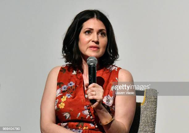Director Alexandra Shiva attends panel discussion for 'This is Home A Refugee Story' New York Premier Screening at Crosby Street Hotel on May 16 2018...