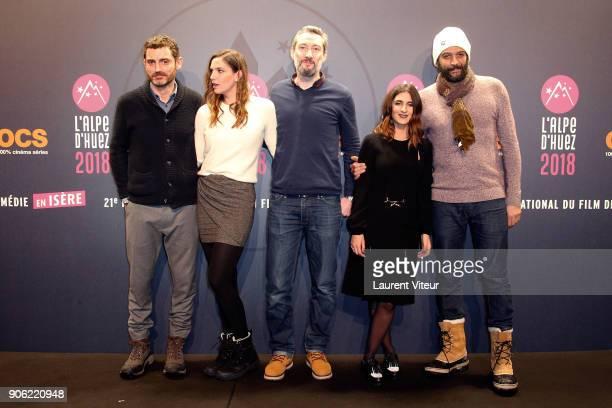 Director Alexandre Coffre Actress Charlotte Gabris Actor Vincent Desagnat Actress Geraldine Nakache and Actor Ramzy Bedia attend 'Les Aventures de...