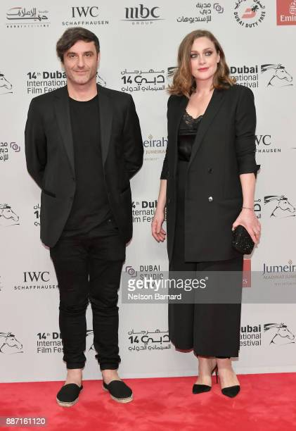 Director Alexandros Avranas and actor Eleni Roussinou attend the Opening Night Gala of the 14th annual Dubai International Film Festival held at the...