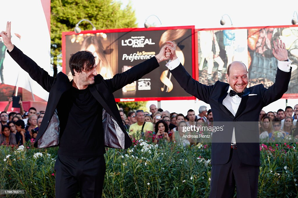 Director Alexandros Avranas and Actor Themis Panou attend the Closing Ceremony during the 70th Venice International Film Festival at the Palazzo del Cinema on September 7, 2013 in Venice, Italy.
