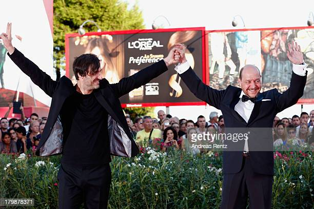Director Alexandros Avranas and Actor Themis Panou attend the Closing Ceremony during the 70th Venice International Film Festival at the Palazzo del...