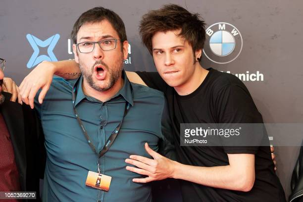 Director Alexis Barroso and Youtuber Ruben Doblas 'El Rubius' at the premiere film of Virtual Hero during the 51 edition of Festival Internacional de...