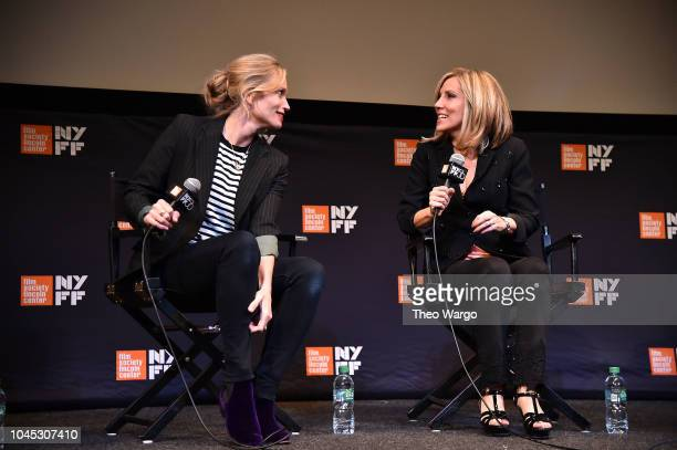 Director Alexis Bloom and Alisyn Camerota attend the 56th New York Film Festival Divide And Conquer The Story Of Roger Ailes at The Film Society of...
