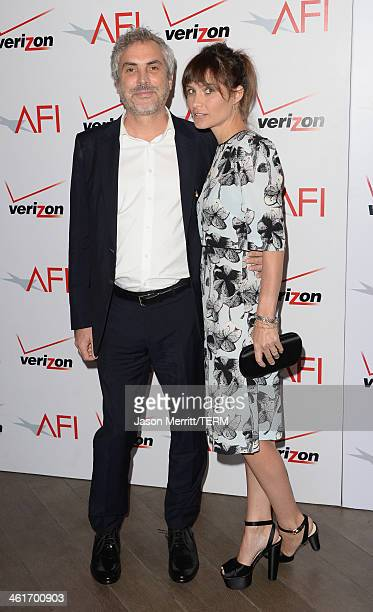 Director Alfonso Cuaron and author Sheherazade Goldsmith attend the 14th annual AFI Awards Luncheon at the Four Seasons Hotel Beverly Hills on...