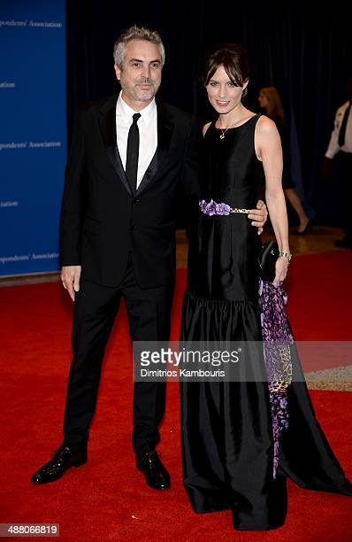 Director Alfonso Cuaron and Sheherazade Goldsmith attend the 100th Annual White House Correspondents' Association Dinner at the Washington Hilton on...