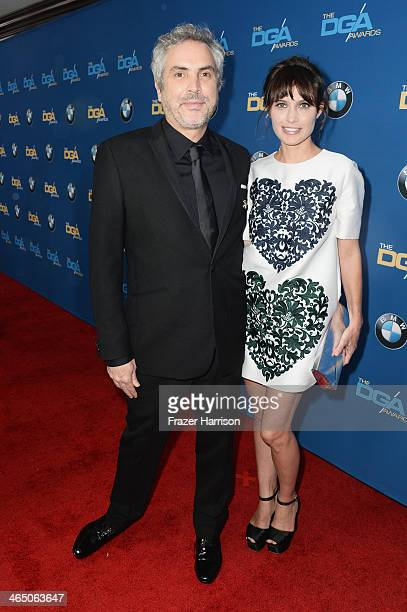 Director Alfonso Cuaron and Sheherazade Goldsmith attend the 66th Annual Directors Guild Of America Awards held at the Hyatt Regency Century Plaza on...
