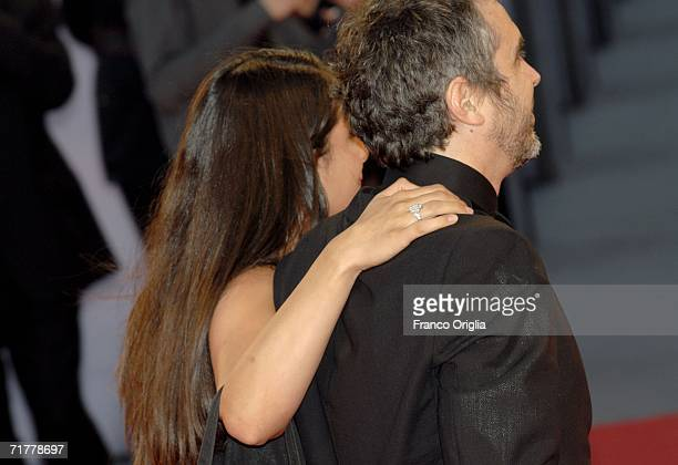 Director Alfonso Cuaron and wife Annalisa attend the premiere of the film 'Children Of Men' during the fifth day of the 63rd Venice Film Festival on...