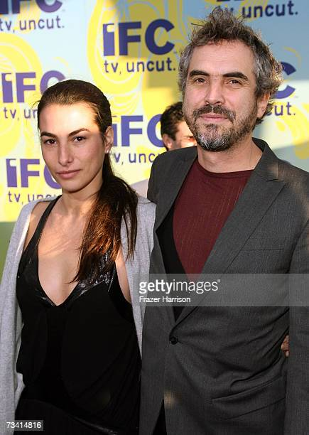 Director Alfonso Cuaron and wife Annalisa Bugliani attend the Independent Film Channel's 2007 Spirit Awards After Party held at Shutters on the Beach...