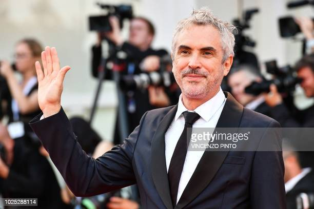 Director Alfonso Cuaron arrives for the premiere of the film 'Roma' presented in competition on August 30 2018 during the 75th Venice Film Festival...