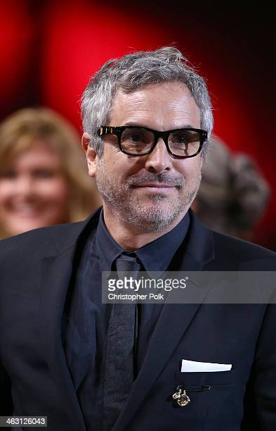 Director Alfonso Cuaron attends the 19th Annual Critics' Choice Movie Awards at Barker Hangar on January 16 2014 in Santa Monica California