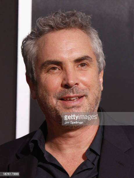 Director Alfonso Cuaron attends the 'Gravity' premiere at AMC Lincoln Square Theater on October 1 2013 in New York City