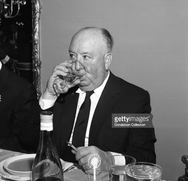 Director Alfred Hitchcock at a dinner for the Motion Picture Pioneers Association at the Playboy Club on November 19 1962 in New York New York