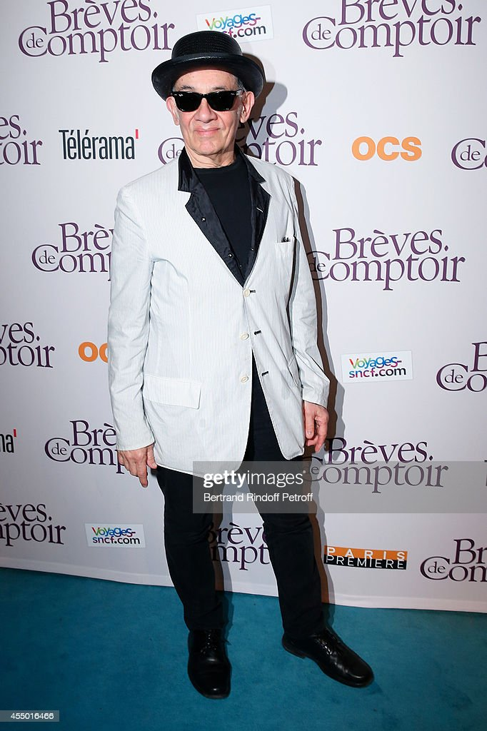 Director Alfredo Arias, Director of the movie Jean-Michel Ribes attends the 'Breves de Comptoir' : movie premiere at Theatre du Rond Point on September 8, 2014 in Paris, France.