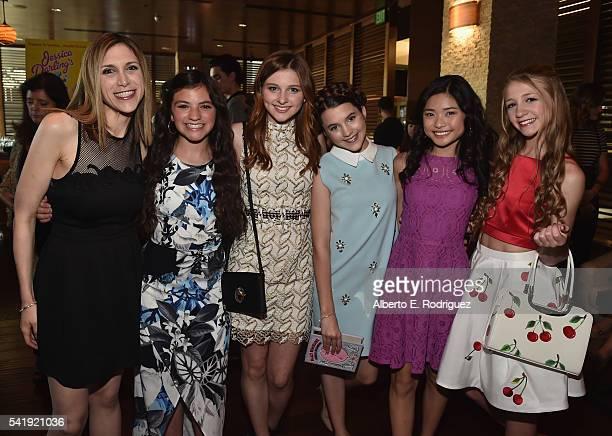 Director Ali Scher actors Eva Bella Jane Widdop Chloe East Ashley Liao and Emma Rayne Lyle attend the premiere of Marvista Entertainment's 'Jessica...