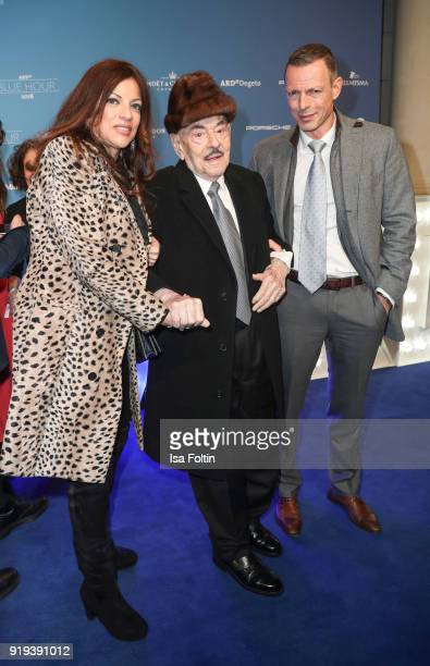Director Alice Brauner with her father Artur Brauner and her husband Michael Zechbauer attend the Blue Hour Reception hosted by ARD during the 68th...