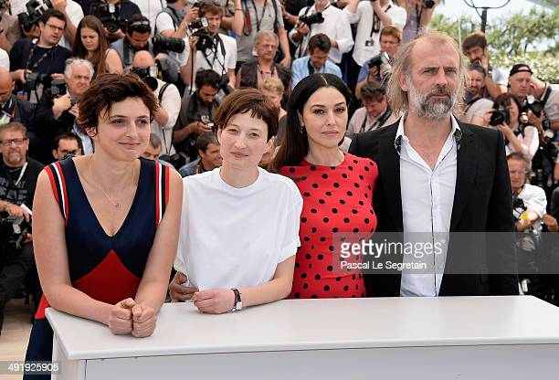 director Alice Rohrwacher actors Monica Bellucci Alba Rohrwacher and Sam Louwyck attend the 'La Meraviglie' photocall during the 67th Annual Cannes...