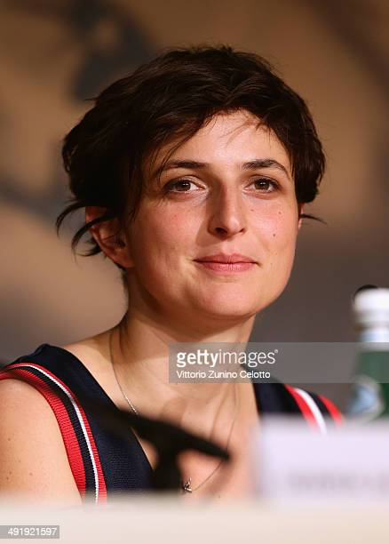 Director Alice Rohrwacher attends the 'La Meraviglie' press conference during the 67th Annual Cannes Film Festival on May 18 2014 in Cannes France