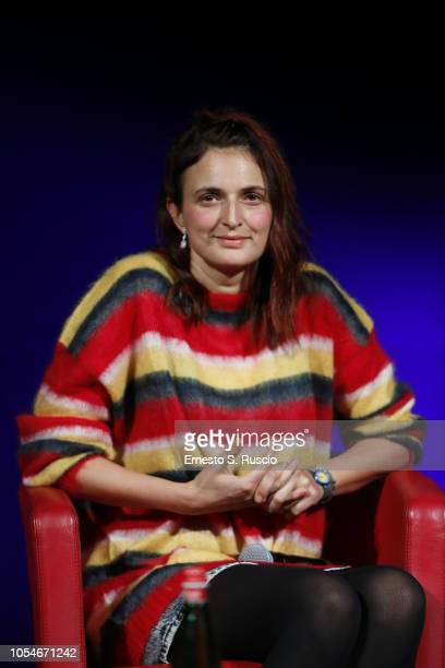 Director Alice Rohrwacher meets the audience during the 13th Rome Film Fest at Auditorium Parco Della Musica on October 28 2018 in Rome Italy