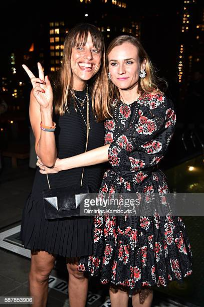 Director Alice Winocour and Diane Kruger attend the after party for the screening of IFC Films' 'Disorder' hosted by The Cinema Society Chopard with...