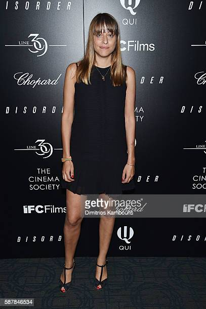Director Alice Winocour attends a screening of IFC Films' 'Disorder' hosted by The Cinema Society Chopard with Line 39 and Qui at Landmark Sunshine...