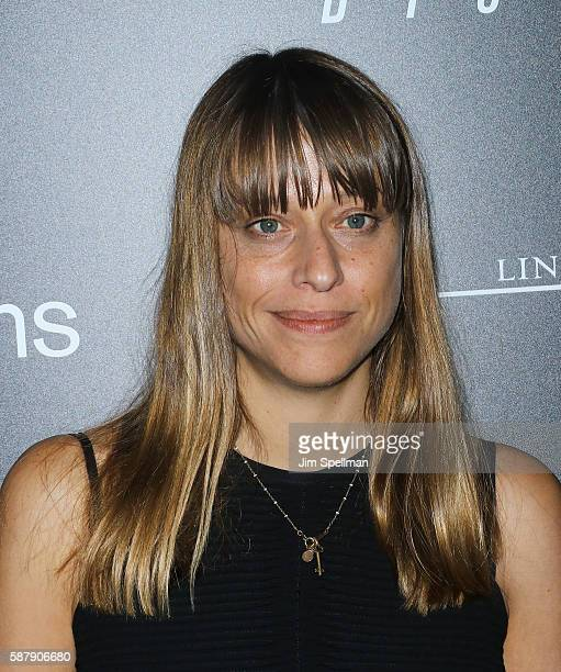 Director Alice Winocour attends the screening of IFC Films' 'Disorder' hosted by The Cinema Society Chopard with Line 39 and Qui at Landmark's...