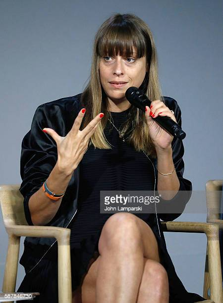 Director Alice Winocour discusses the film 'Disorder' at the Apple Store Soho on August 9 2016 in New York City