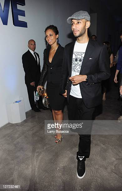 Director Alicia Keys and Swizz Beatz attend the premiere of Lifetime's Five from Jennifer Aniston Demi Moore Alicia Keys at Skylight on September 26...