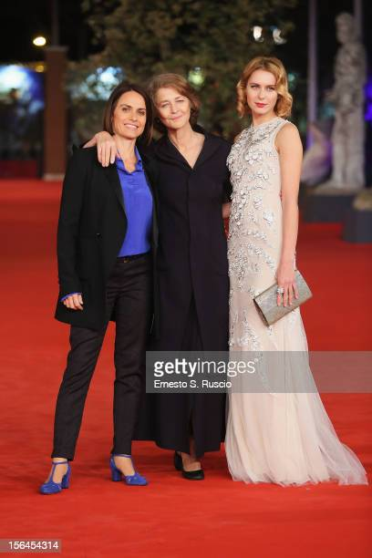Director Alina Marazzi and actresses Charlotte Rampling and Elena Radonicich attend the 'Tutto Parla Di Te' Premiere during the 7th Rome Film...