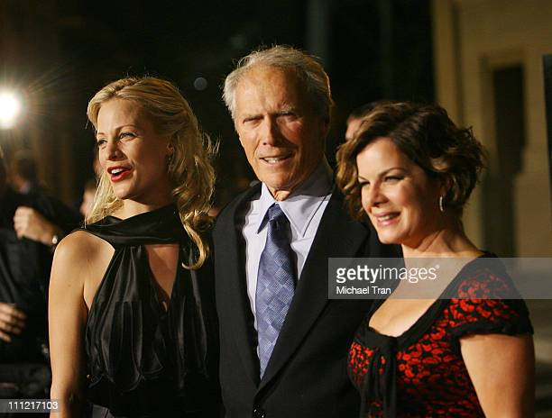 Director Alison Eastwood actor Clint Eastwood and actress Marcia Gay Harden arrives at the Los Angeles Premiere of Rails and Ties held at The Steven...