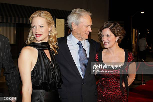 Director Alison Eastwood Clint Eastwood and Marcia Gay Harden at the Warner Bros premiere of Rails Ties at the Steven J Ross Theater on October 23...