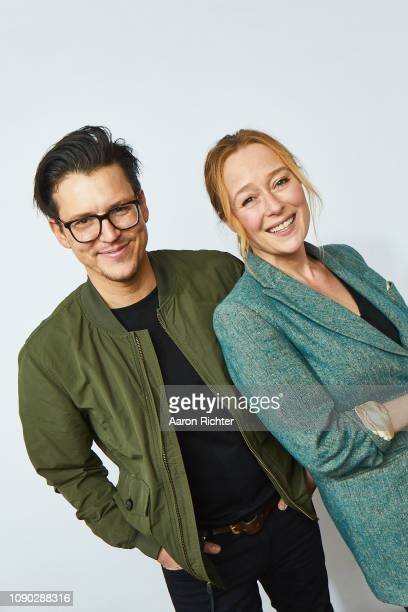 Director Alistair Banks and Jennifer Ehle from 'The Wolf Hour' pose for a portrait in the Pizza Hut Lounge in Park City, Utah on January 27, 2019 in...