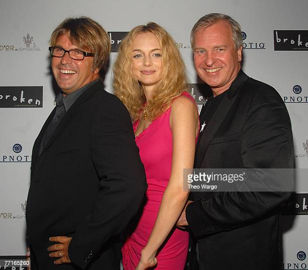 NEW YORK OCTOBER 02 Director Allan White Heather Graham and Producer Jerry Wayne attend the 'Broken' New York City Premiere afterparty at D'or at...