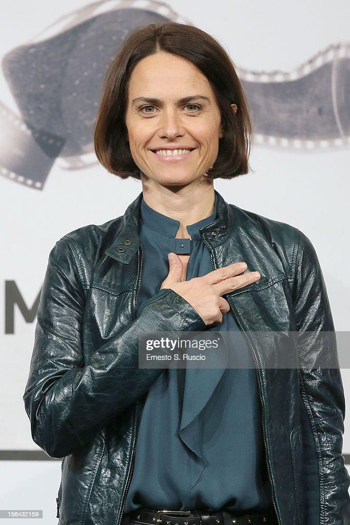 Director Allina Marazzi attends the 'Tutto Parla Di Te' Photocall during the 7th Rome Film Festival at the Auditorium Parco Della Musica on November 15, 2012 in Rome, Italy.