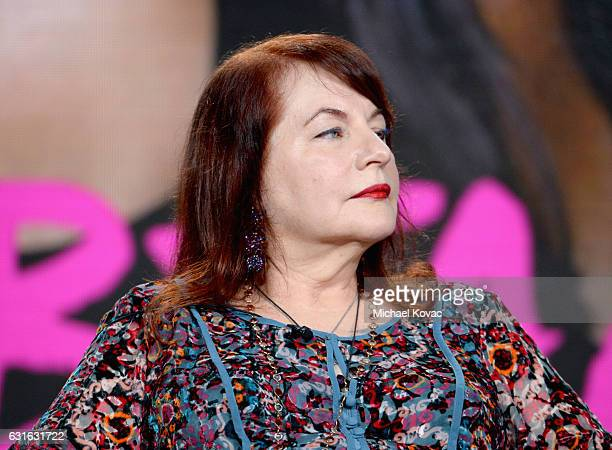 Director Allison Anders of 'Beaches' speaks onstage during the Lifetime portion of the 2017 Winter Television Critics Association Press Tour at...
